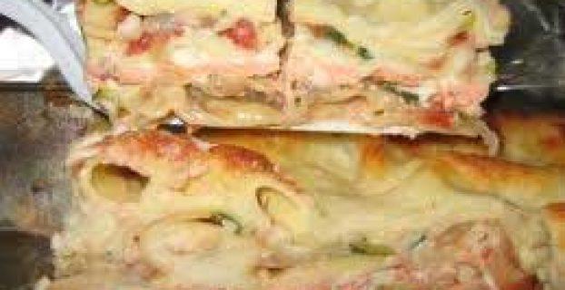 Lasaña de salmón