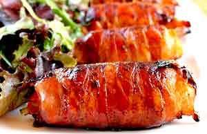 Salmón con Bacon