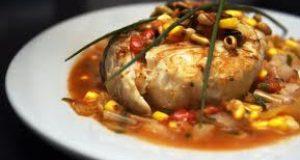 Salmon en Salsa de Puerros y Piñones