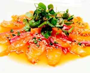 Carpaccio de Salmon Fresco