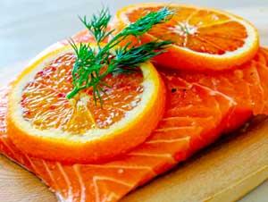 Salmón Marinado a la Naranja