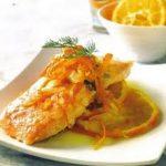 Salmón en Salsa de Naranja